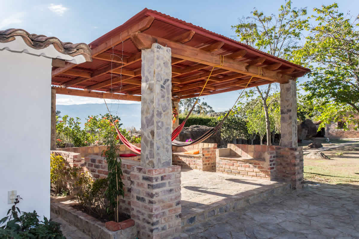 Zona social casa Loma de los vientos en villa de leyva