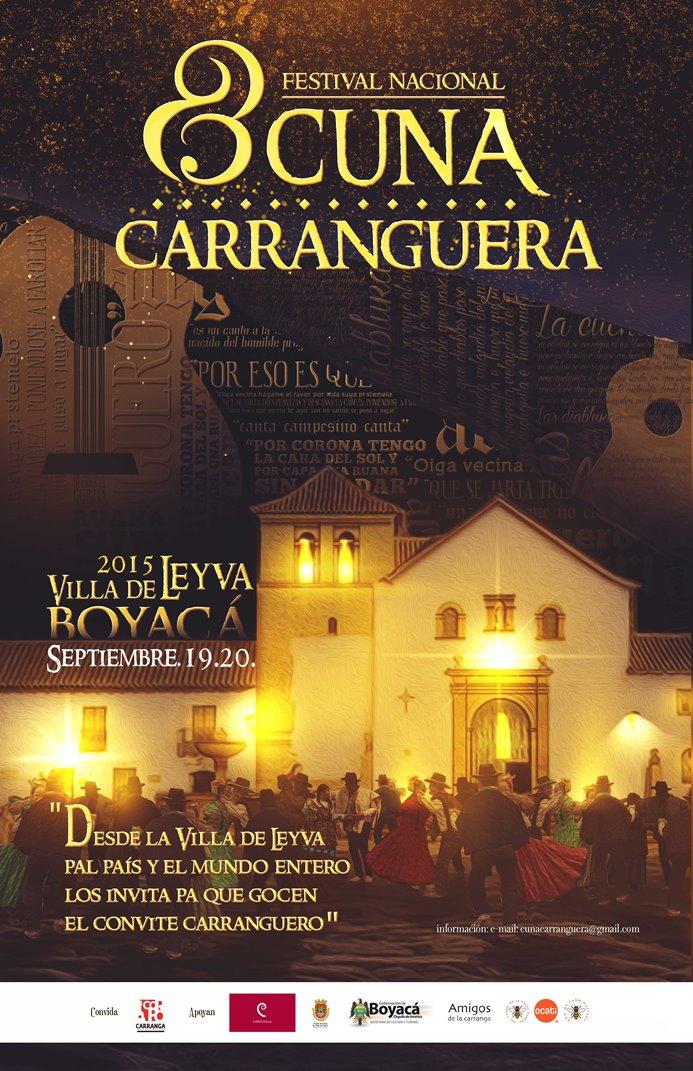 Afiche 8 festival cuna carranguera septiembre 2015