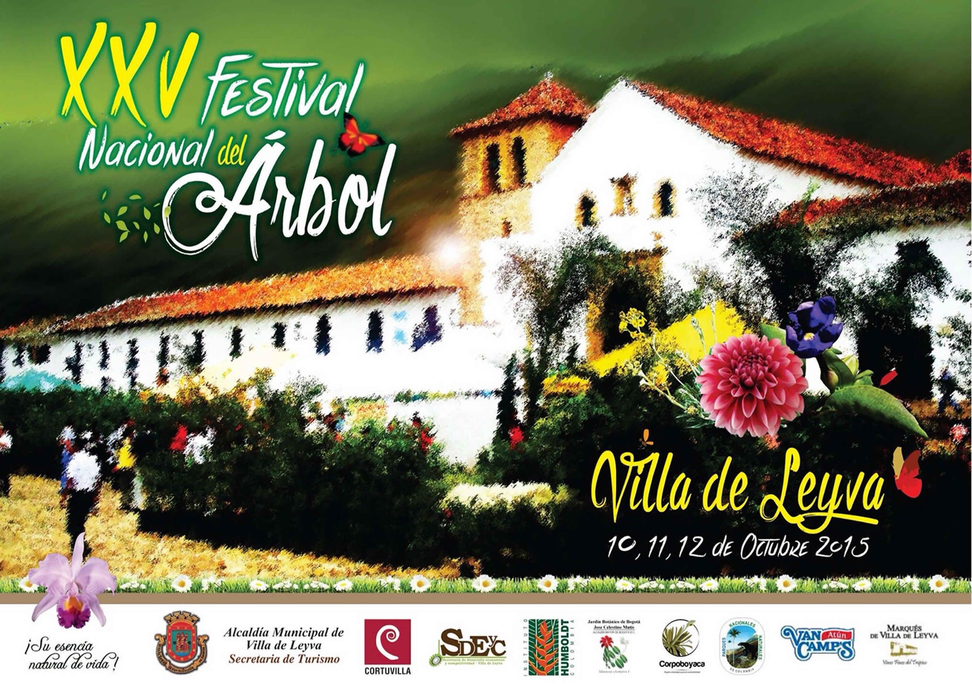 Afiche festival del árbol de Villa de Leyva 2015