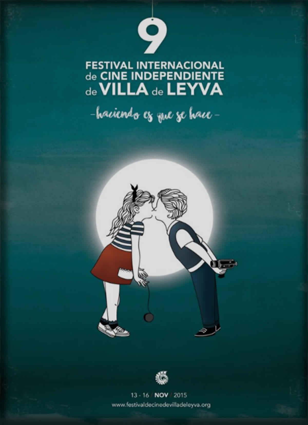 Afiche 9 festival internacional de cine independiente de Villa de Leyva. Haciendo es que se hace