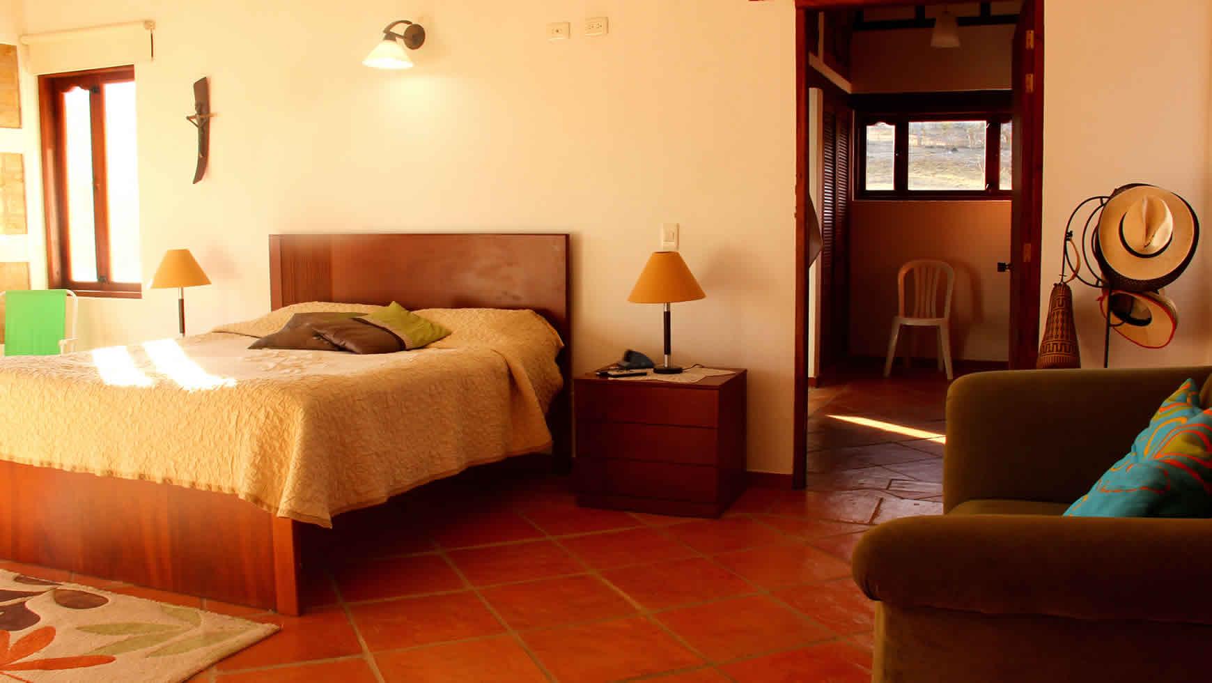 habitación de la casa ecatepec en Villa de Leyva