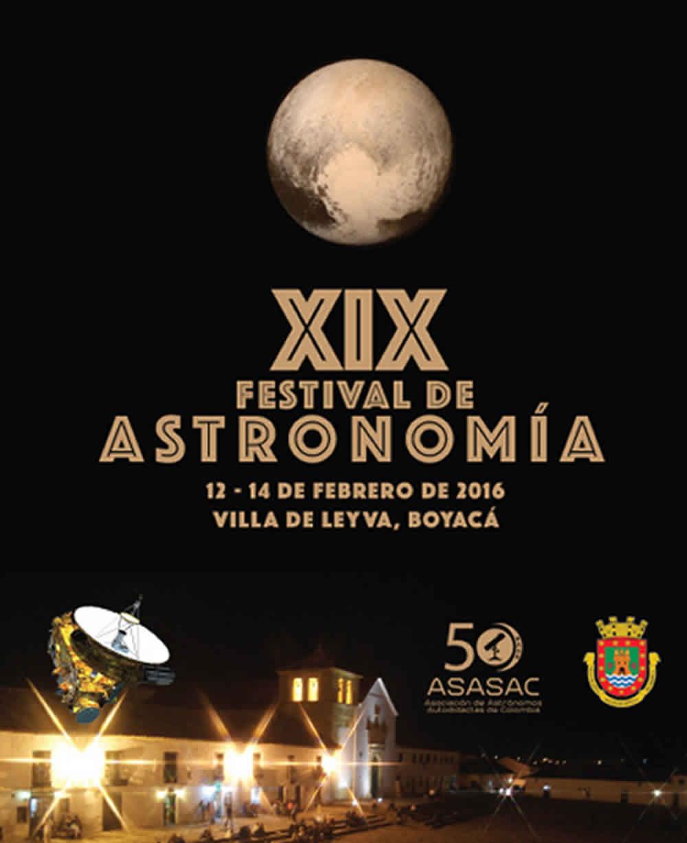 Afiche XIX festival astronomía Villa de Leyva 2016