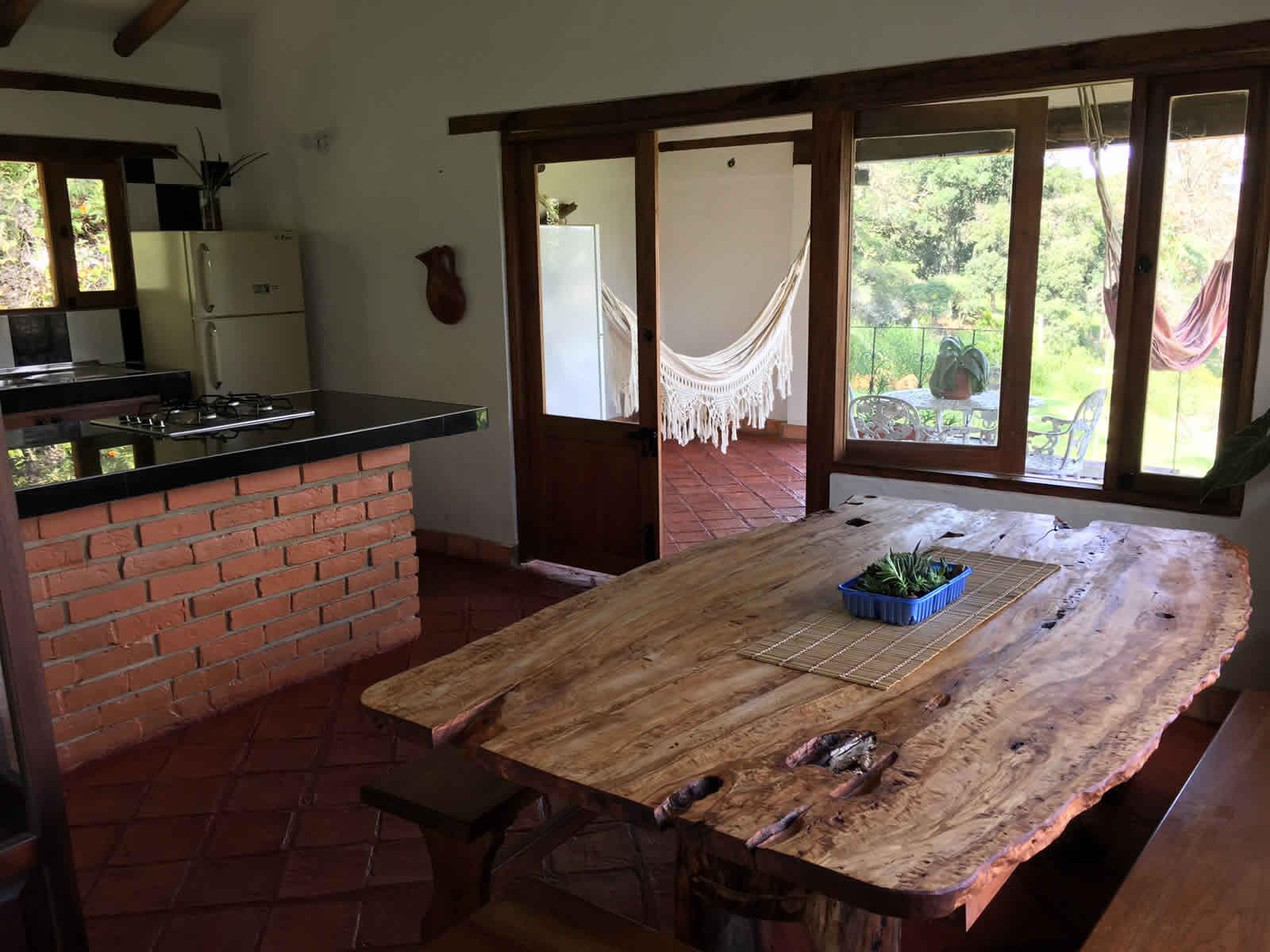 Alquiler cabaña El Paraíso en Villa de Leyva - comedor