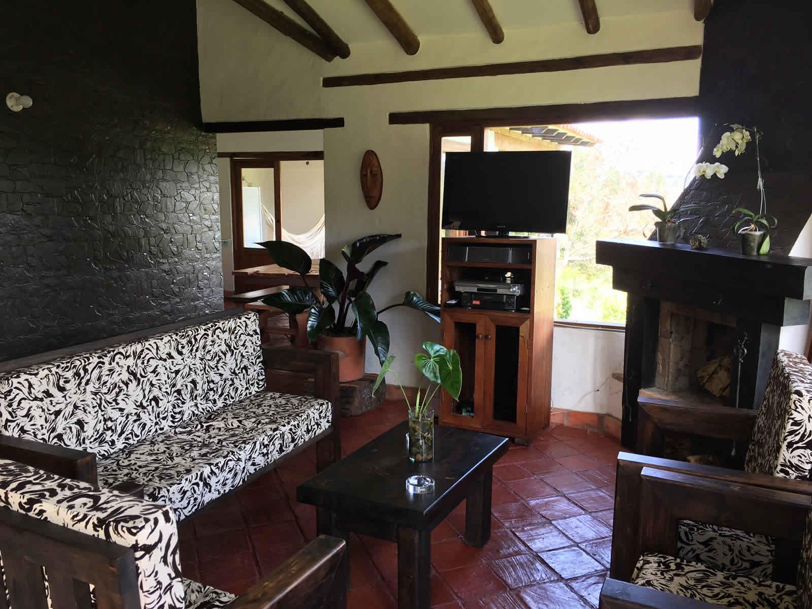 Alquiler cabaña El Paraíso en Villa de Leyva - sala