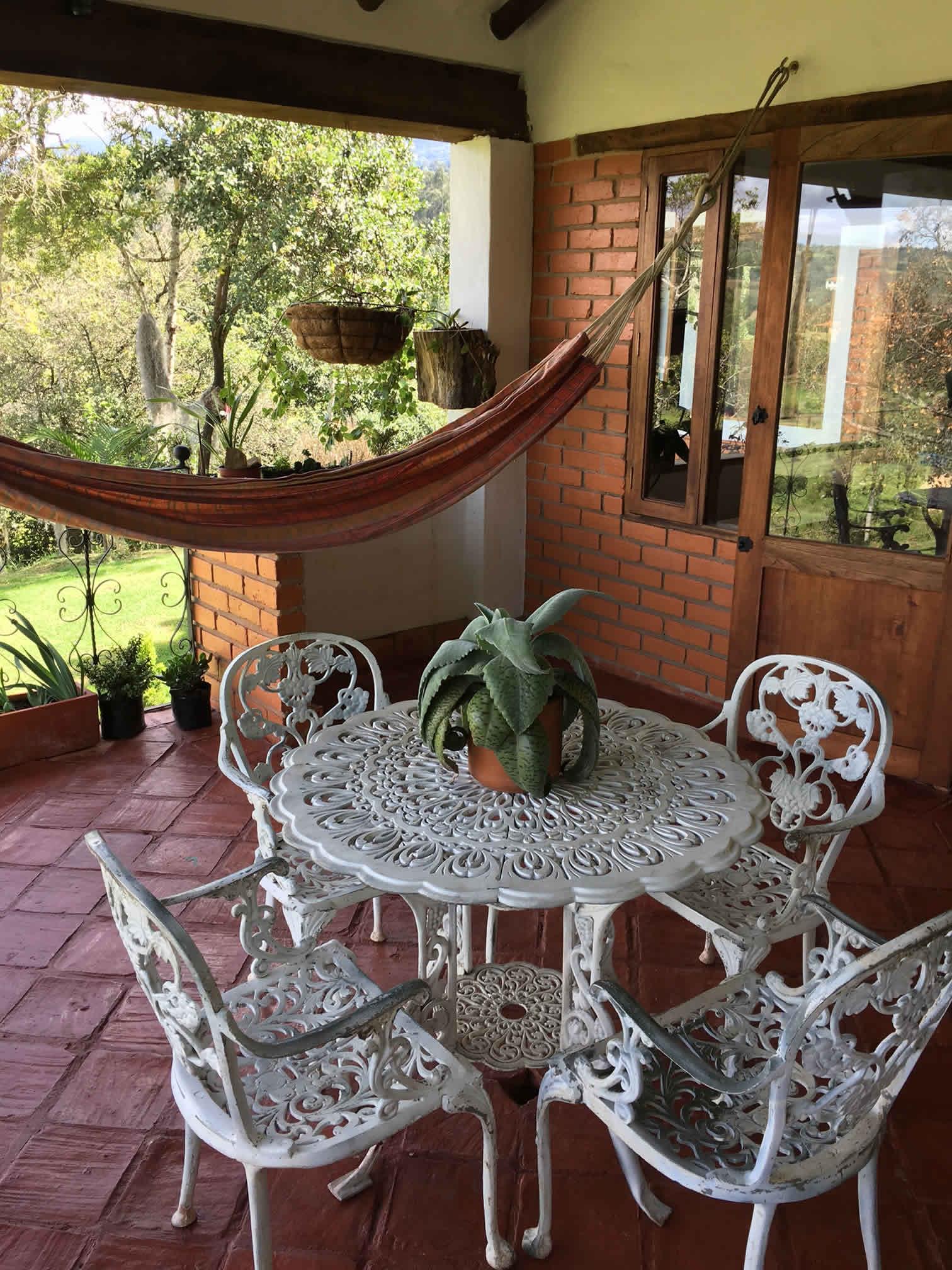 Alquiler cabaña El Paraíso en Villa de Leyva - terraza