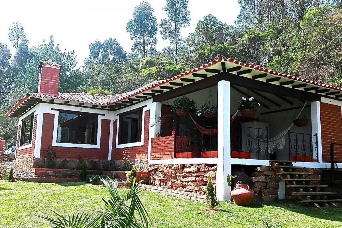 Fachada Cabaña El Paraiso en Villa de Leyva