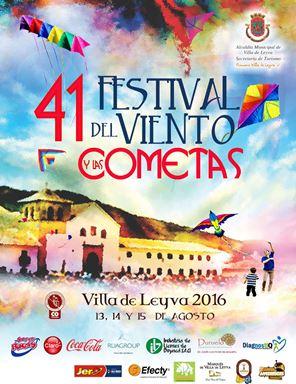 Afiche del festival de cometas de Villa de Leyva 2016