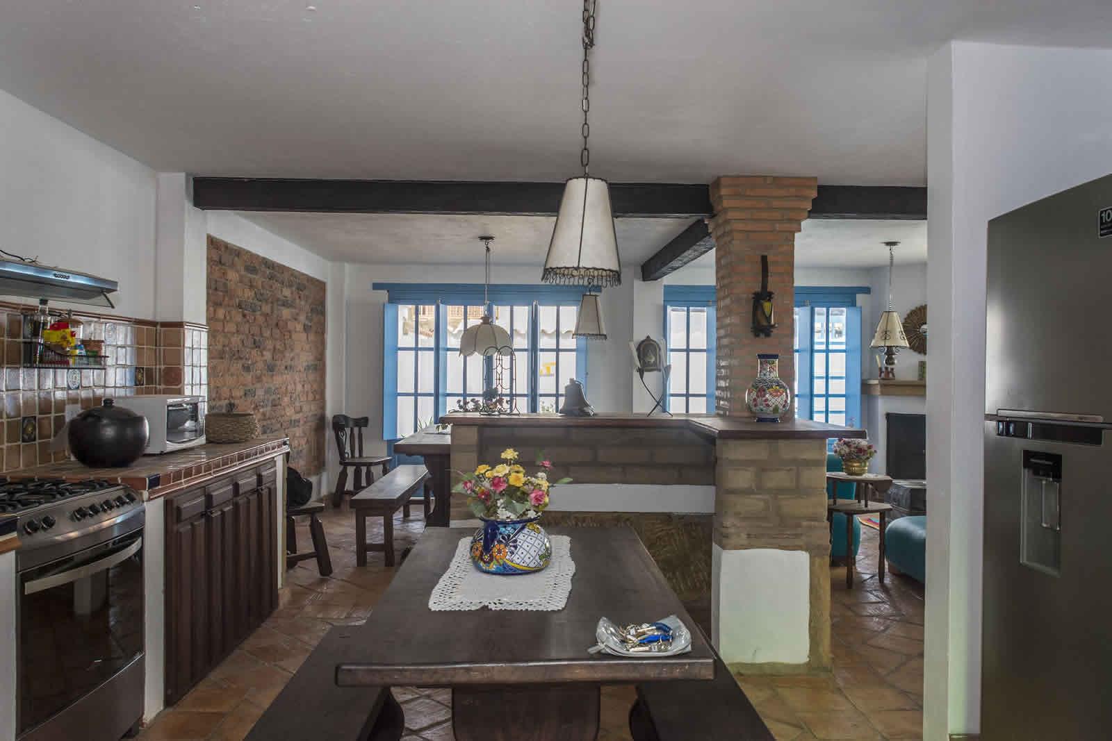alqAlquiler Casa Azul en Villa de Leyva Cocina