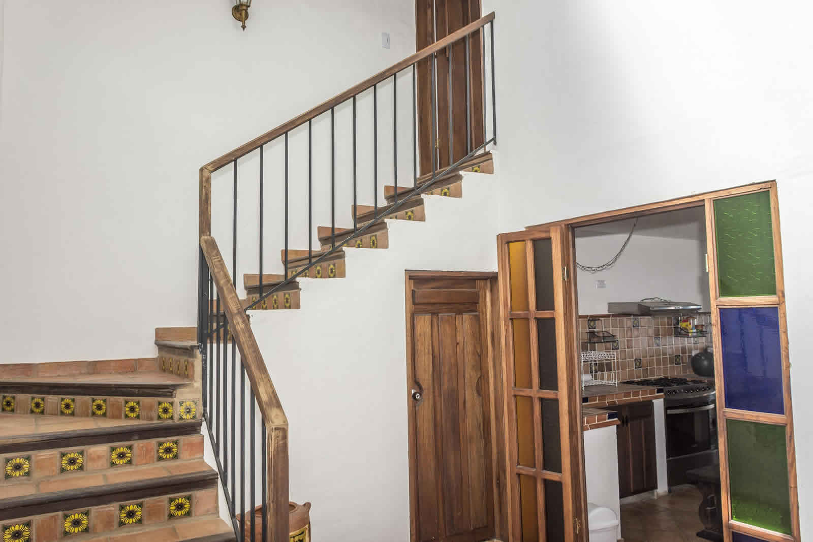 Alquiler Casa Azul en Villa de Leyva Escalera habitación principal