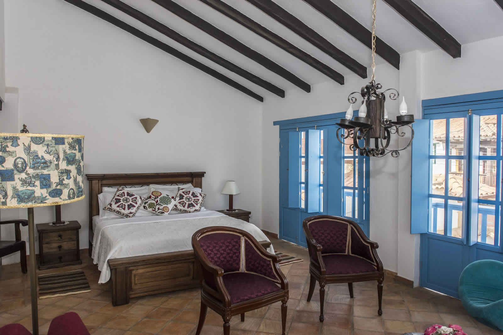 Alquiler Casa Azul en Villa de Leyva habitación principal