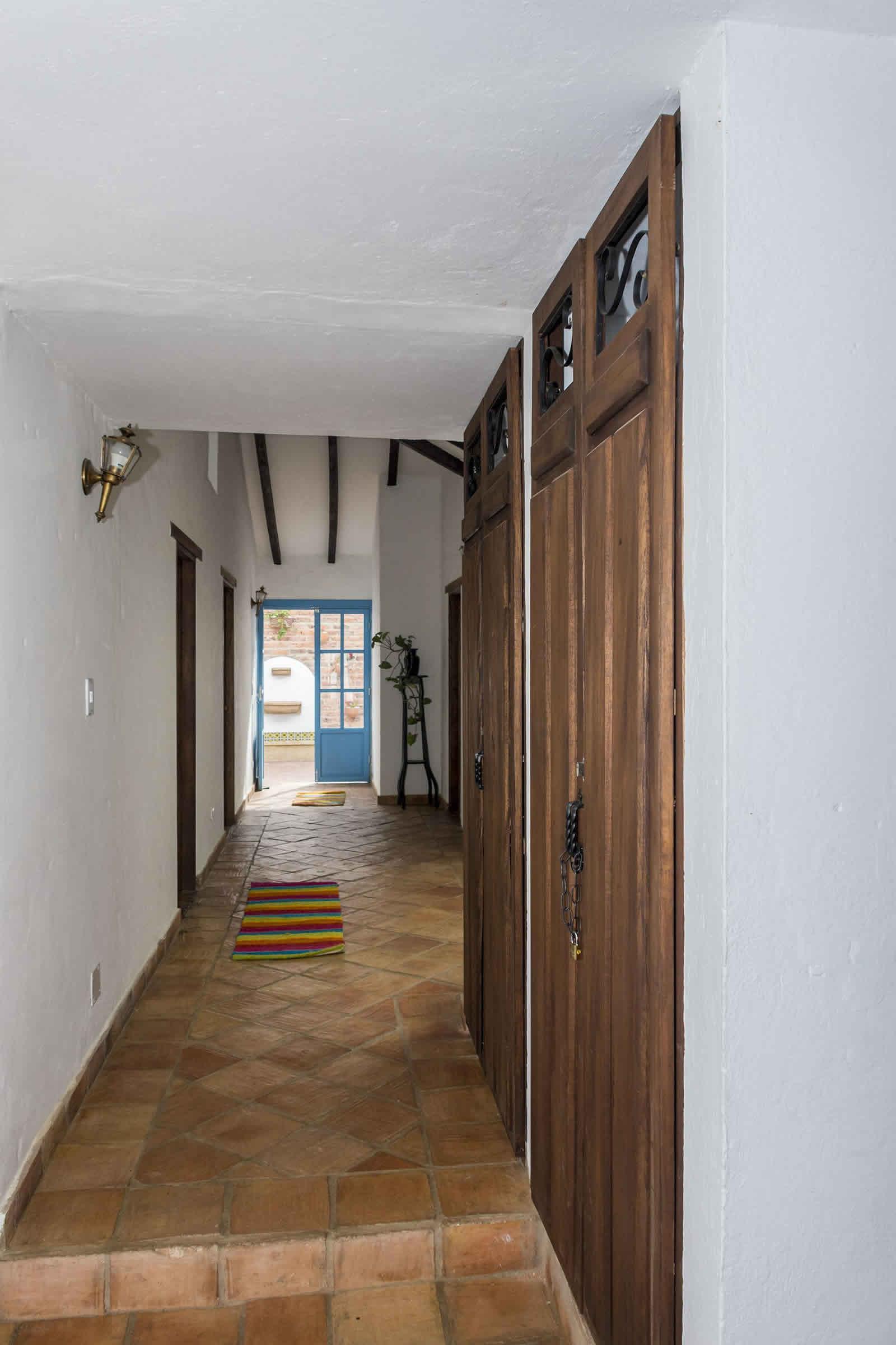 Alquiler Casa Azul en Villa de Leyva pasillo