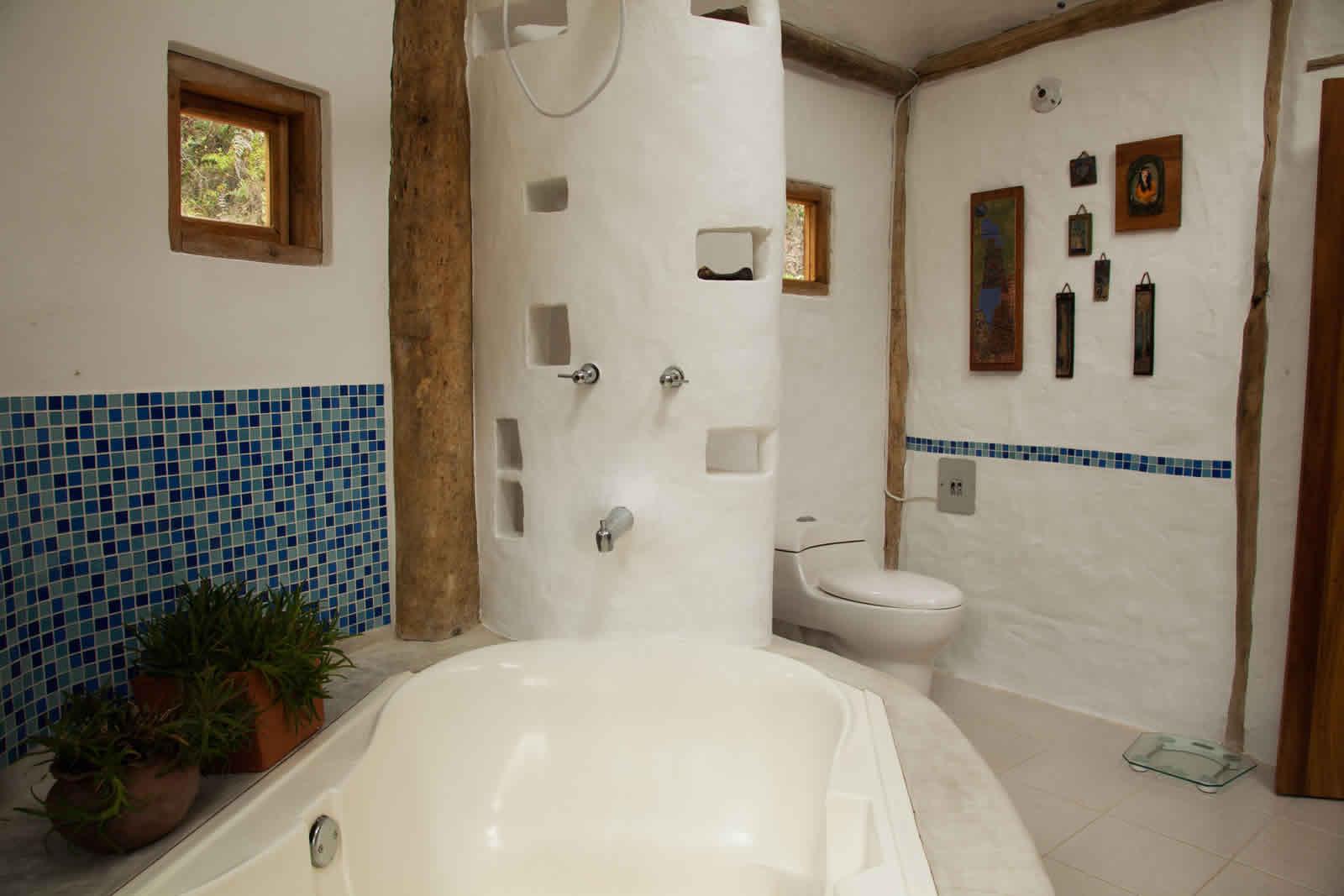 Alquiler cabaña La Colorada 2 en Villa de Leyva - Baño principal