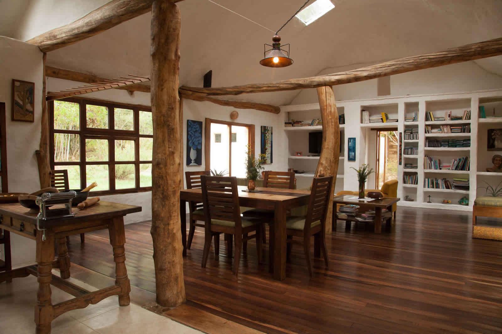 Alquiler cabaña La Colorada 2 en Villa de Leyva - Comedor