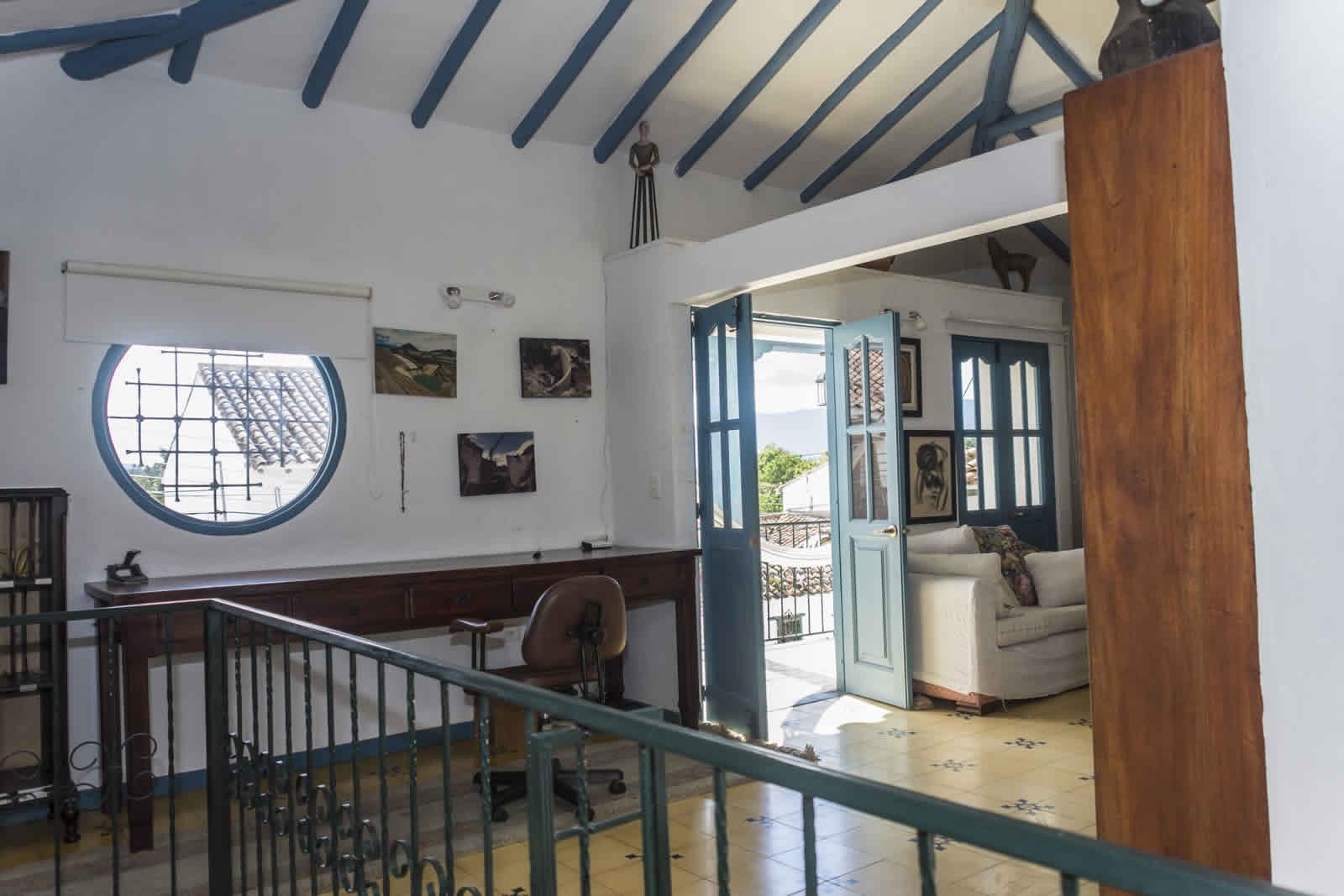 Alquiler casa Tulato Villa de Leyva estudio y balcón