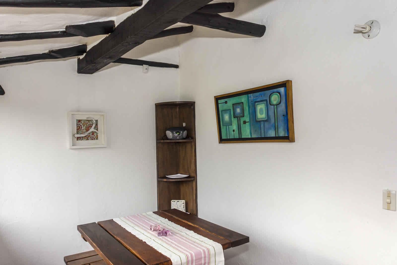 Alquiler casa de verano Villa de Leyva comedor