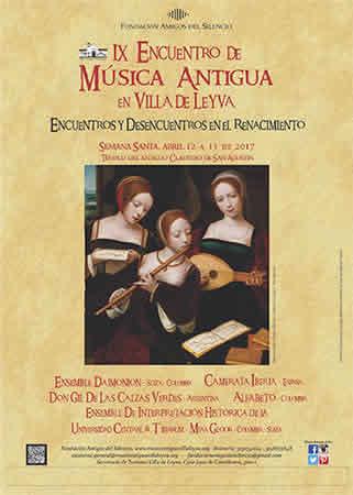 Afiche Encuentro Música Aantigua en Villa de Leyva 2017