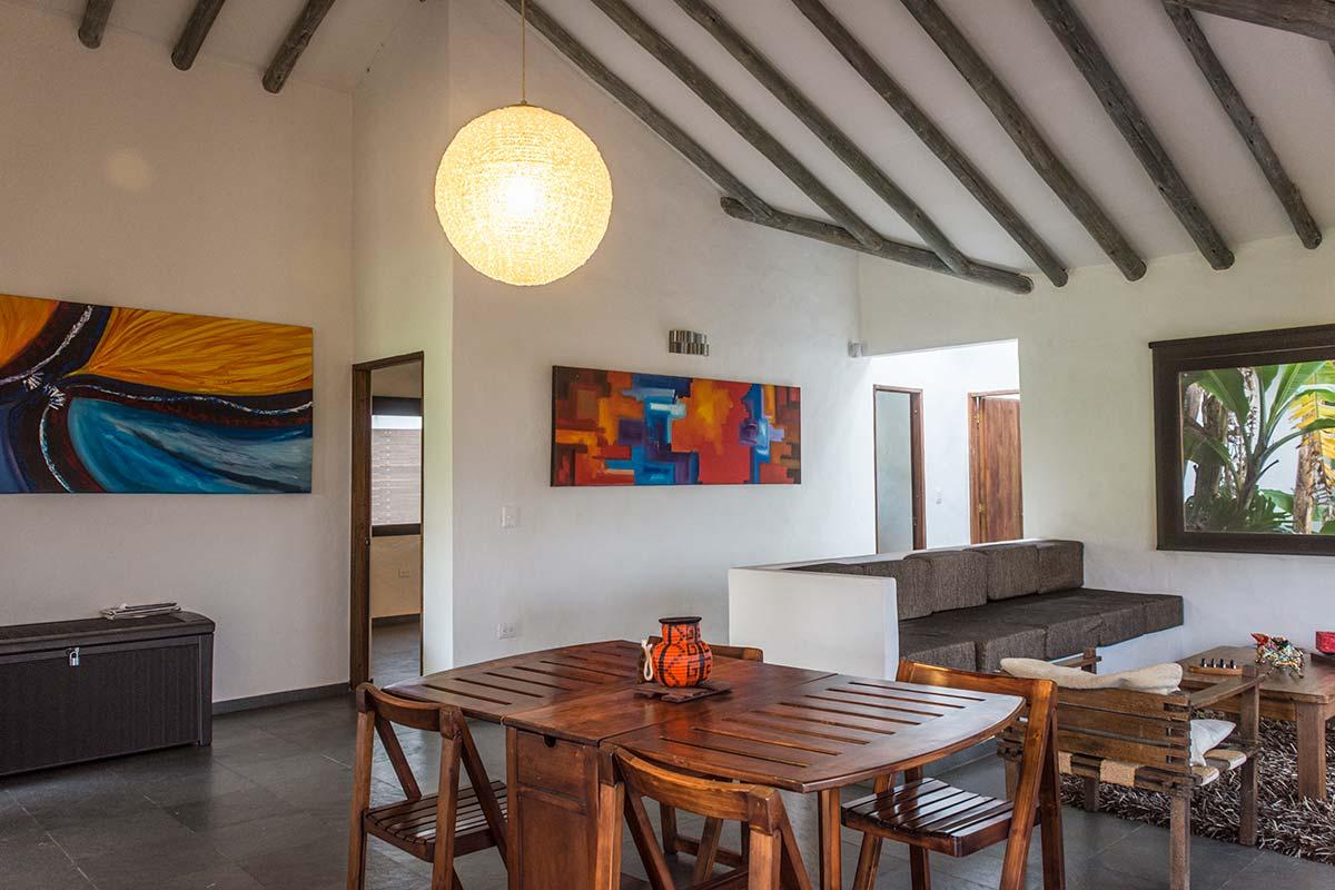 Alquiler Finca El Aliso en Villa de Leyva - Comedor