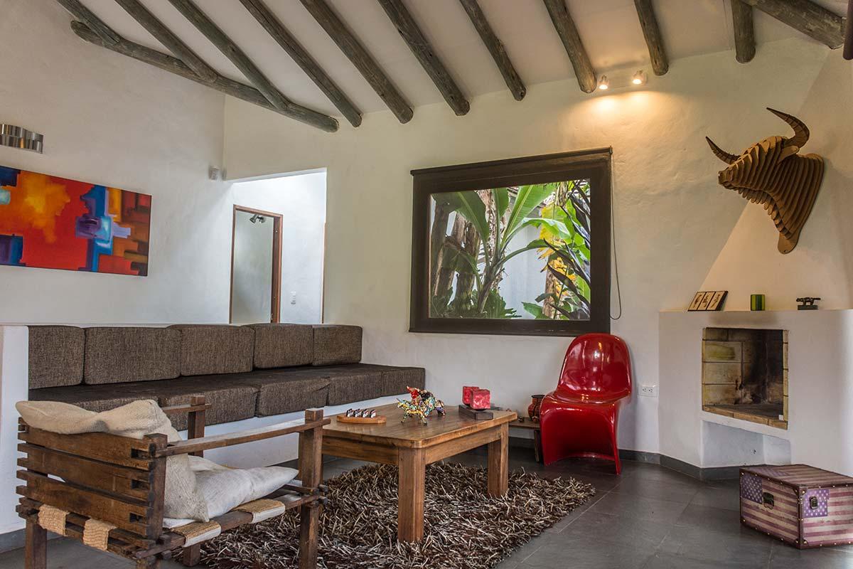 Alquiler Finca El Aliso en Villa de Leyva - Sala