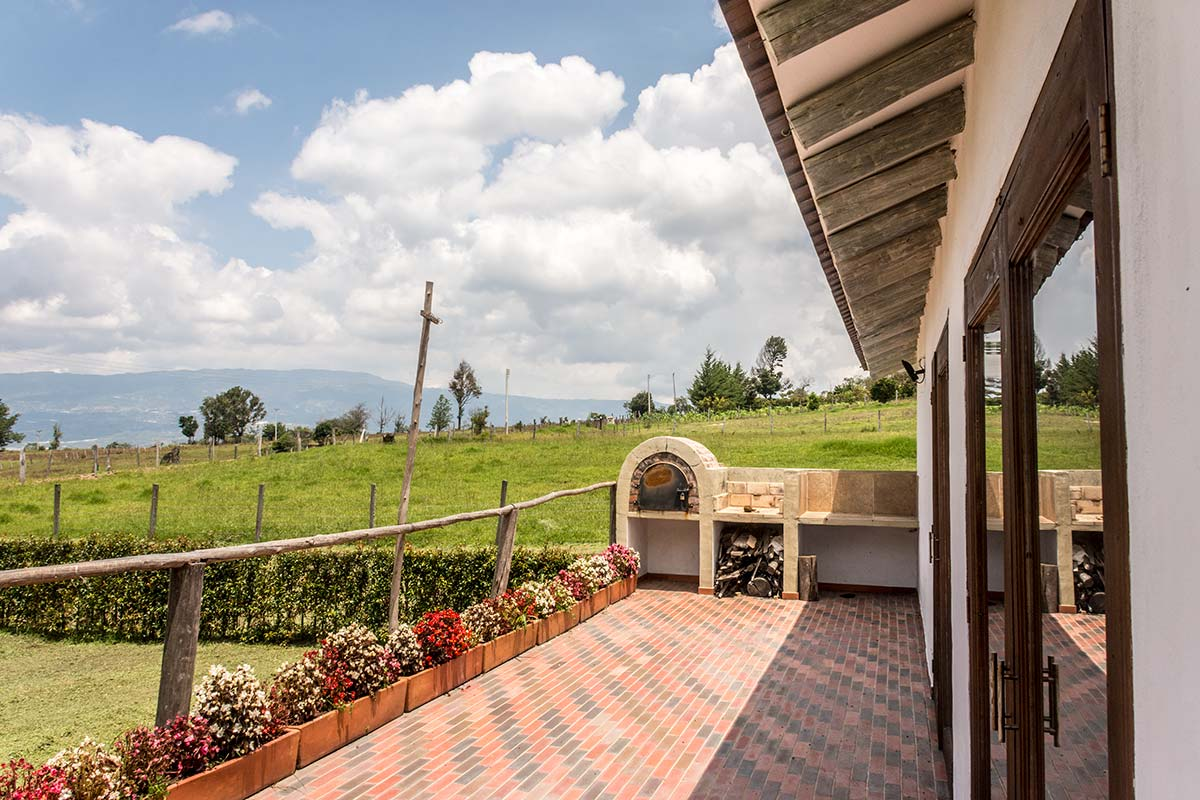 Alquiler Finca El Aliso en Villa de Leyva - Terraza