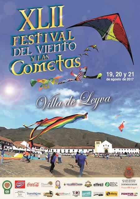 Afiche festival de cometas de Villa de Leyva 2017