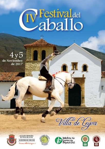 Afiche festiva del caballo de Villa de Leyva 2017