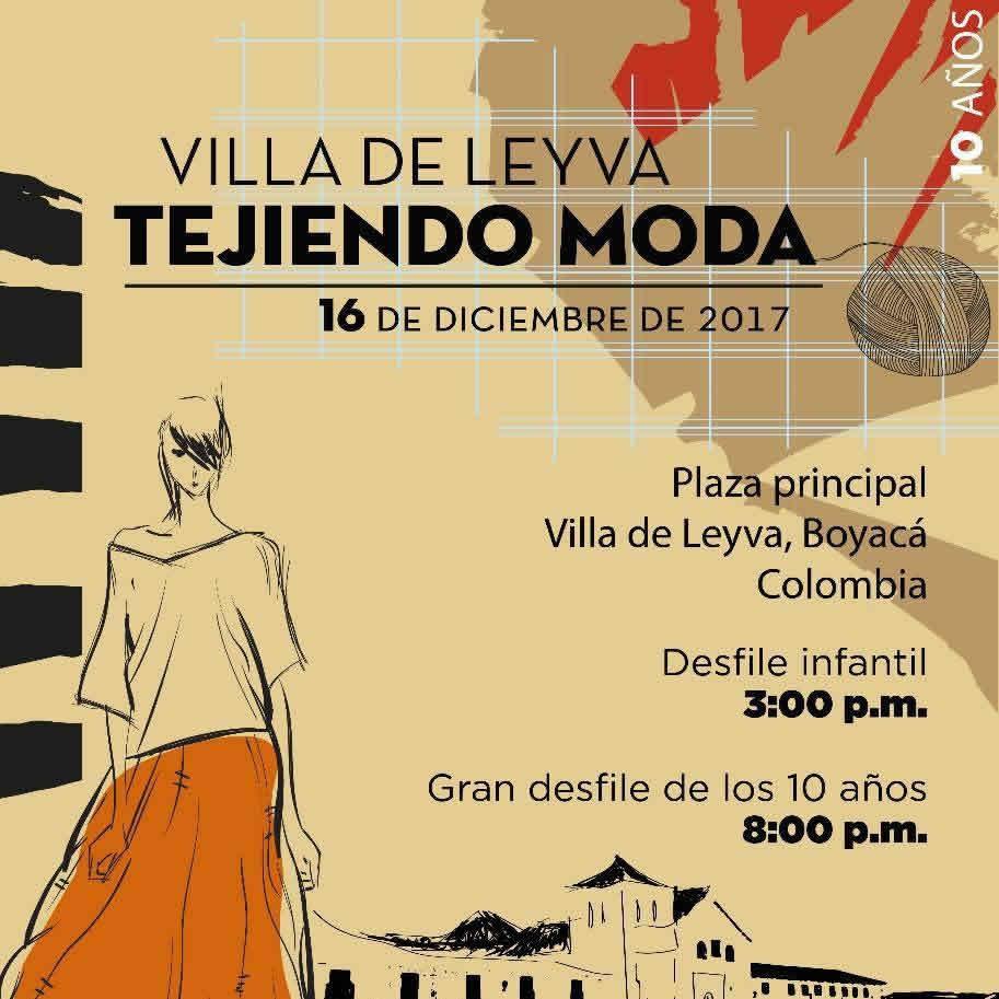 Afiche Tejiendo Moda 2017 Villa de Leyva