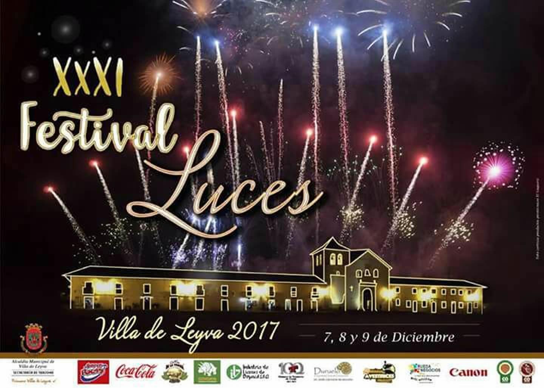 Afiche festival de luces de Villa de Leyva 2017