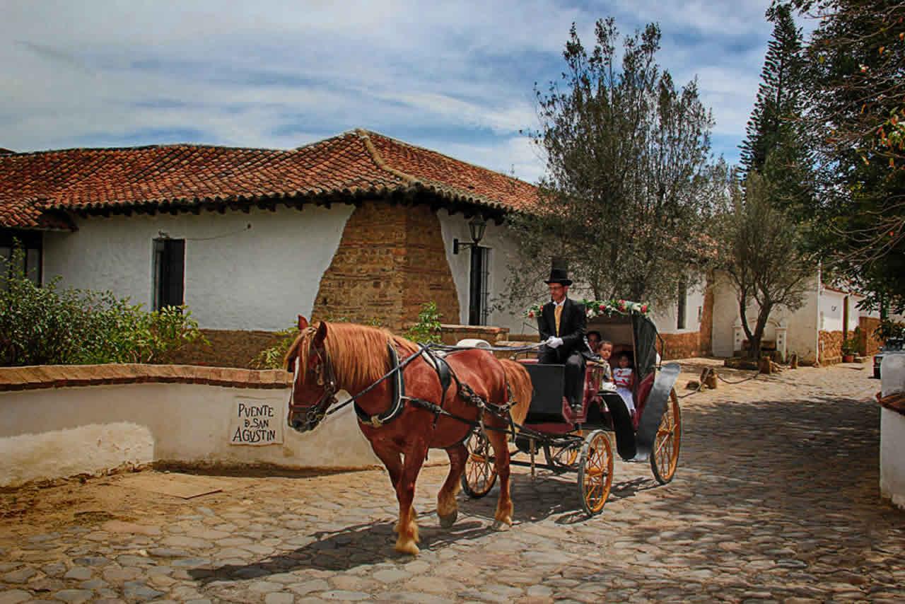 Carroza matrimonial en Villa de Leyva