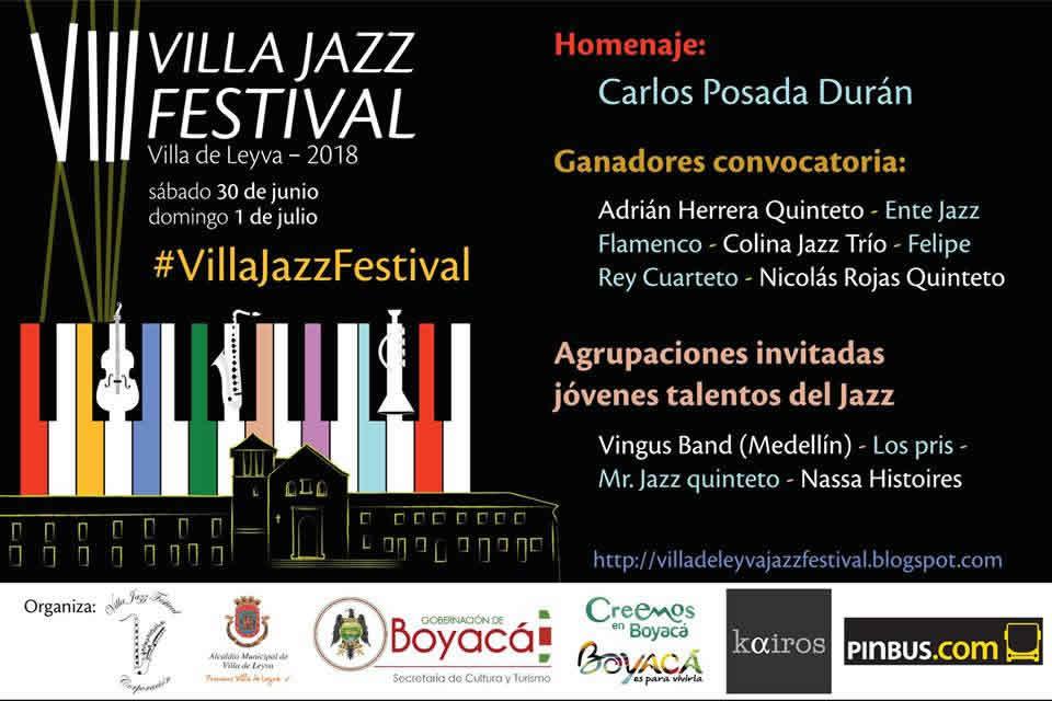 Afiche Festival de jazz de Villa de Leyva 2018