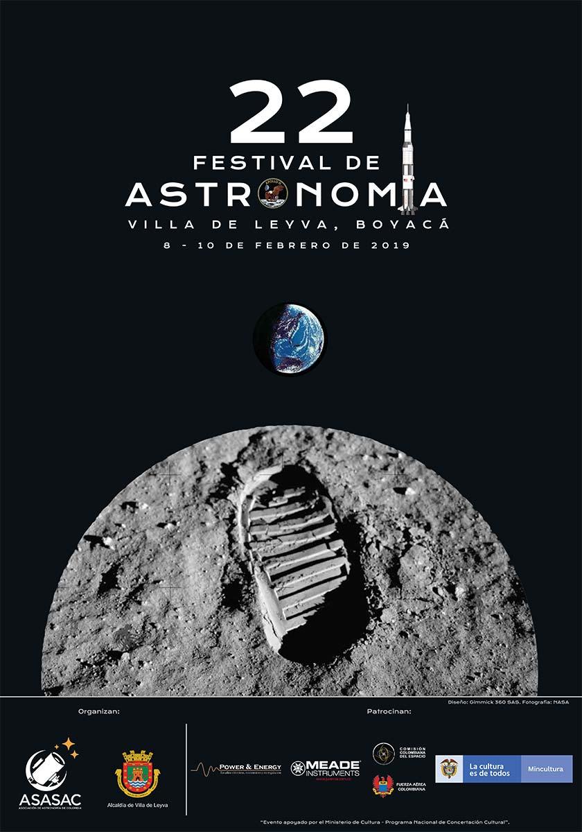 Afiche oficial festival de astromía 2019 de Villa de Leyva